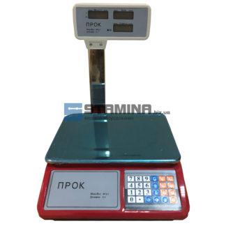 Торговые весы Прок ВТ 30 кг со стойкой